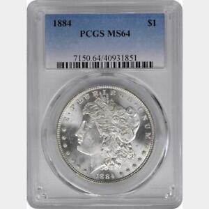 "1884 MORGAN SILVER DOLLAR PCGS MS-64 ""GORGEOUS"""