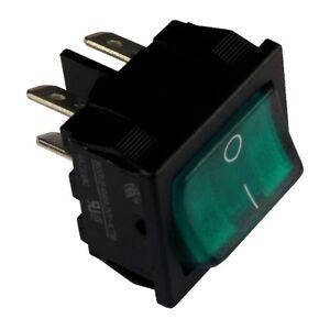 Wippschalter H8653VBNBP Schalter 2-polig EIN-AUS 10A 250V grün beleuchtet 855231