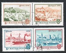 Hungary Magyar 100th Anniversary Unification Of Budapest 1972 Stamp 2179-2182