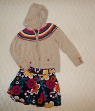 Girls Gymboree Fashionable Fox Hooded Sweater Top Flower Skirt Outfit Sz M 7 8