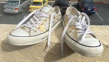 Woman's 8.5 Gold Splash Leather Converse. Gently Worn. Sanitized/Cleaned. CUTE!!