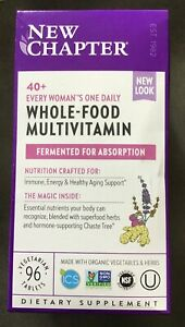 Chapter 40+ Every Woman's One Daily Whole-Food Multivitamin 48 Veggie Tabs New