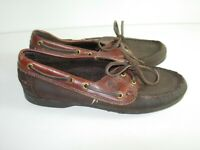 WOMENS BROWN LEATHER DEXTER LOAFERS BALLET FLATS CASUAL COMFORT SHOES SIZE 7.5 M