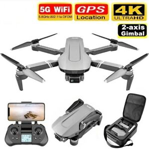 New F4 Drone GPS 4K 5G 1B HD Mechanical Gimbal Camera System Supports TF Card