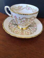 Vintage Pink/gold Tuscan Tea Cup Set