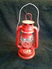 Vintage Hm 103 Mini Lantern Unused 9 inches tall red