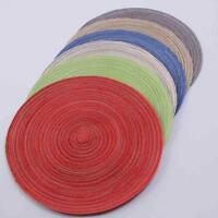 Cotton thread Effect  Round Coasters (18CM Diameter Approx) - 8-Colours