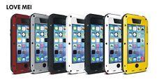 Love Mei spritz Wasserdicht Stabiles Metallgehäuse Schutz für iPhone 5C schwarz