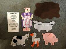 Children's story felt/ flannel board set Mrs. Wishy-Washy Former Pre-K Teacher