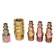 5 pc Solid Brass Quick Coupler Set Air Hose Connector Fittings 1/4 NPT CH44KIT-1