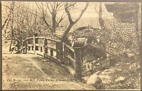 Napanoch NEW YORK ~ The Bridge & Mill Yama Farms ~ Ulster County Postcard