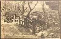 Napanoch NEW YORK ~ The Bridge & Mill Yama Farms ~ Ulster County Postcard