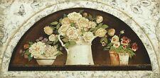 Wand Bild Kathryn White Stillleben Arrangements Malerei Creme 33x69x1,2 cm A7YA