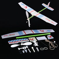 1pc light knight rubber band powered aircraft glider competition model N_N