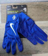 New Nike Huarache Elite Blue Baseball Batting Gloves PGB642-488 Mens SZ Medium M