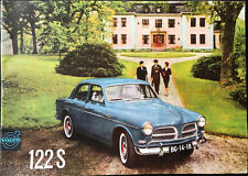 Volvo 122S Sales Brochure 1961 Saloon Models