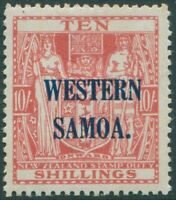 Samoa 1935 SG191 10s carmine-lake Arms WESTERN SOMOA. ovpt MLH