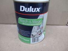 DULUX 1 LITRE INTERIOR WASH/WEAR SEMI-GLOSS FACTORY VIVID-WHITE COLOUR PAINT