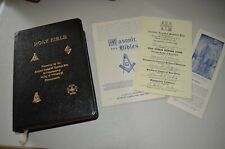 Holy Bible Masonic Ancient Accepted Scottish Rite Pittsburgh Leather Holman 1957
