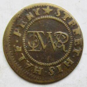 Great Britain, London Aldersgate WALTER JONES 17th Century 1/2d Halfpenny Token