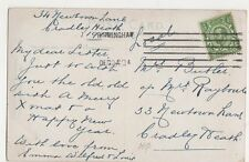 Birmingham December 24 1912 Machine Postmark on Postcard, B410