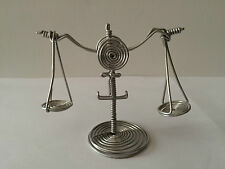Handmade Star Sign Libra Made out of Wire, Three Dimensional Figurine Ornament