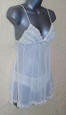 Cream Crepe Chiffon Babydoll /Chemise & Panties Size 8