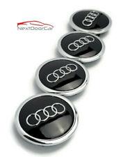 4 Black Chrome Wheel Rim Center Replacement Hub Caps For Audi 69mm 4b0601170a