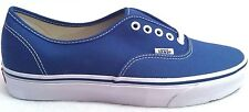 New Womens Vans Authentic Canvas Vulcanized Plimsoll Trainers Shoes Navy UK 3.5