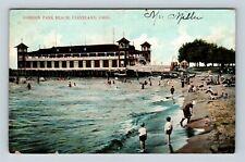 Cleveland OH, Gordon Park Beach, Vintage Ohio c1901 Postcard X62