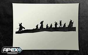 Fellowship of the Ring Stencil - Lord of the Airbrush, Sponging Snow ST-FL-LOTR2