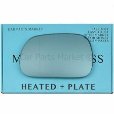 For BMW z3 Roadster 95-03 Left side Aspheric Electric Blue mirror glass +plate