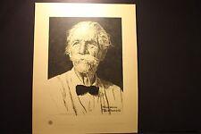 """Norman Rockwell, """" Albert Schweitzer """", Serigraph, 1974, Rare #149/1250"""