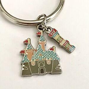 Vintage Disney Disneyland Castle Keychain Disneyana Cinderella Magic Kingdom