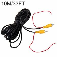 10M 30FT CAR Backup Parking Kit Camera Video Extension Cable Lead + Reverse Wire