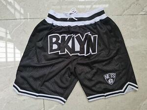 Hot sale New Brooklyn Nets Men's Pocket black Basketball Shorts Size: S-XXL