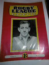 Rugby League Gazette Vol 5 No 1 Denis Goodwin Barrow & Jack Keith Oldham Covers