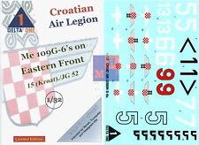 """1/32. Messerschmitt Me-109G Croatian Air Legion, decals by """"Delta One""""  DO32001"""