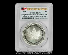 2019 Proof Silver Maple Leaf PCGS PR70 FDOI - Pride of Two Nations - IN HAND