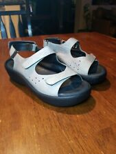 Wolky gray leather sling back sandal shoes women size US 7 1/2 - 8 EUR 38