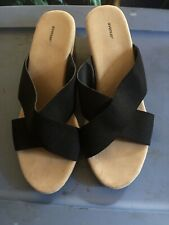 New Avenue Cloudwalkers Stretch Comfort Wedge Sandals sz 13W