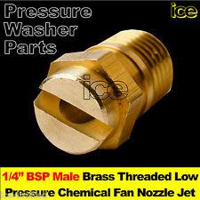"Brass Low Pressure Washer Chemical Detergent Lance Spray Nozzle Jet Tip 1/4"" BSP"