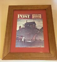 Norman Rockwell Framed Print The Saturday Evening Post 80's 171/2x211/2