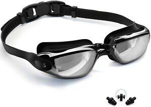 Mirror Clear Swimming Goggles Anti-UV-Fog Swim Glasses For Men With Case