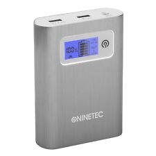 B-Ware NINETEC PowerDrive 64GB Flash Speicher 13.400mAh Power Bank Akku Silber