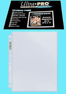 "10 ULTRA PRO PLATINUM 1-POCKET 8.5x11 Pages Sheets Protectors Binder 8-1/2""x11"""
