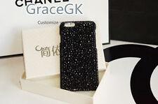 Luxury Bling Black Gems Diamonds Rhinestones Glitter Case Cover For Mobile Phone