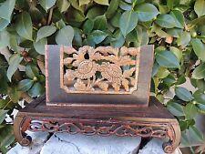 638. Antique Carved Gold Gilt Wood Panel / Flower
