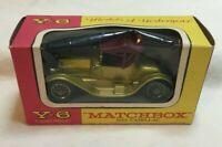 *Vintage Matchbox Y-6 1913 Cadillac Car by Lesney in Original Box