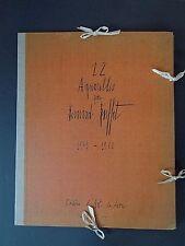 Buffet, Douze Aquarelles #87/300 orig lithos 10 of 12 1960 INV2528